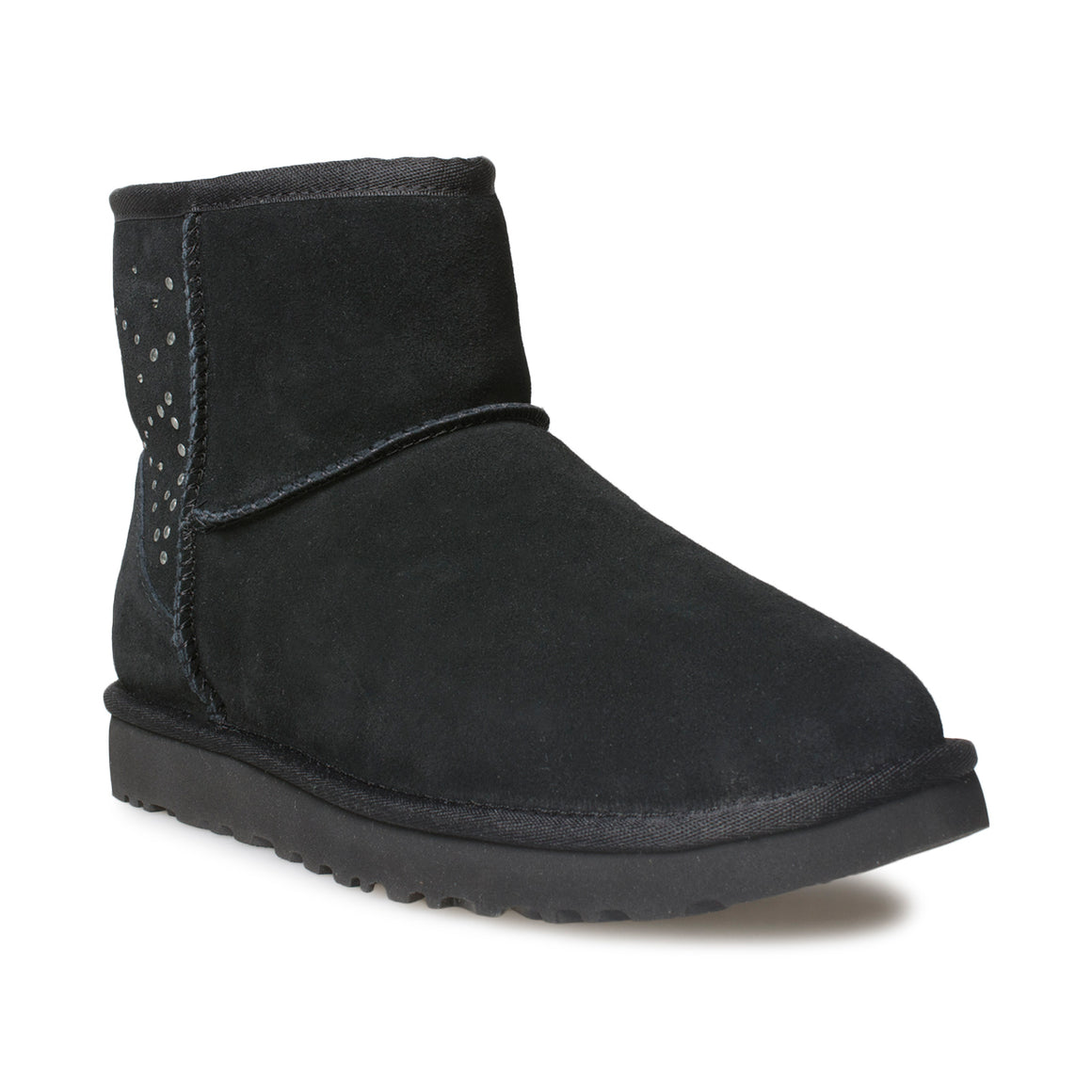 UGG Classic Mini II Studded Black Boots - Women's