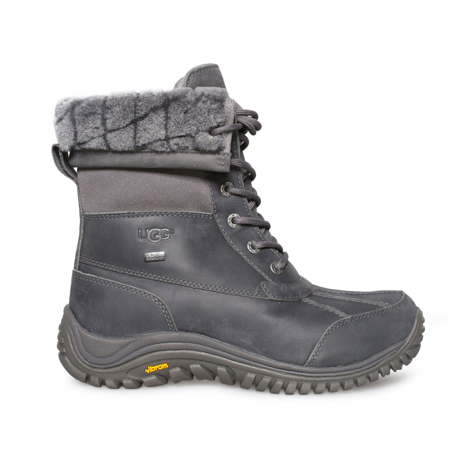 f38f22862b9 UGG Adirondack II Luxe Quilt Grey Boots