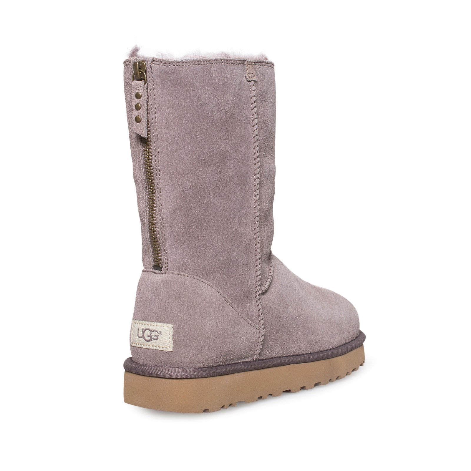 4ec14f122a0 UGG Classic Short Zip Suede Stormy Grey Boots
