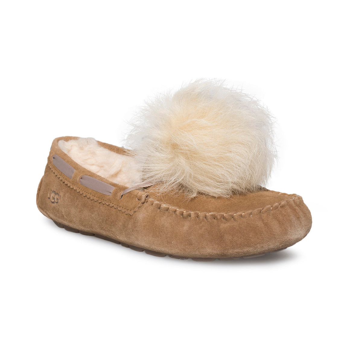 UGG Dakota Pom Pom Chestnut Slippers