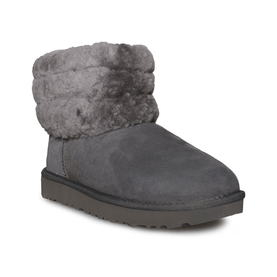 UGG Fluff Mini Quilted Charcoal boots - Women's