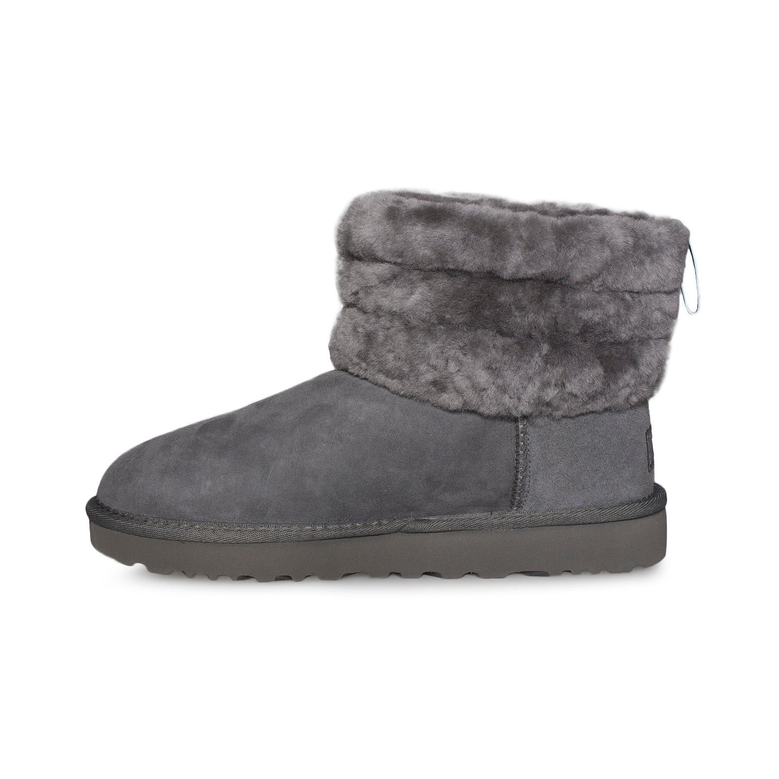 2e9b9112285 UGG Fluff Mini Quilted Charcoal boots - Women's