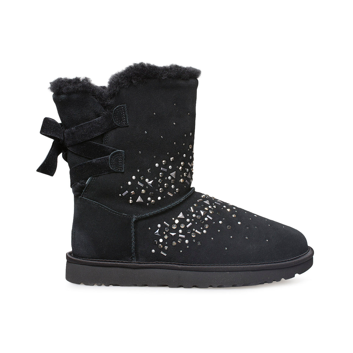UGG Classic Galaxy Bling Short Black Boots - Women's