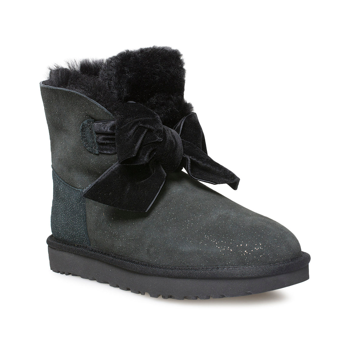 UGG Gita Twinkle Bow Mini Black Boots - Women's