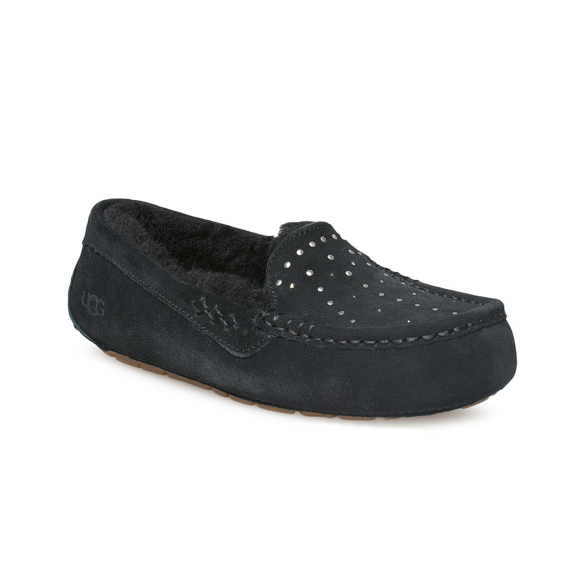 UGG Ansley Studded Black Slippers - Women's