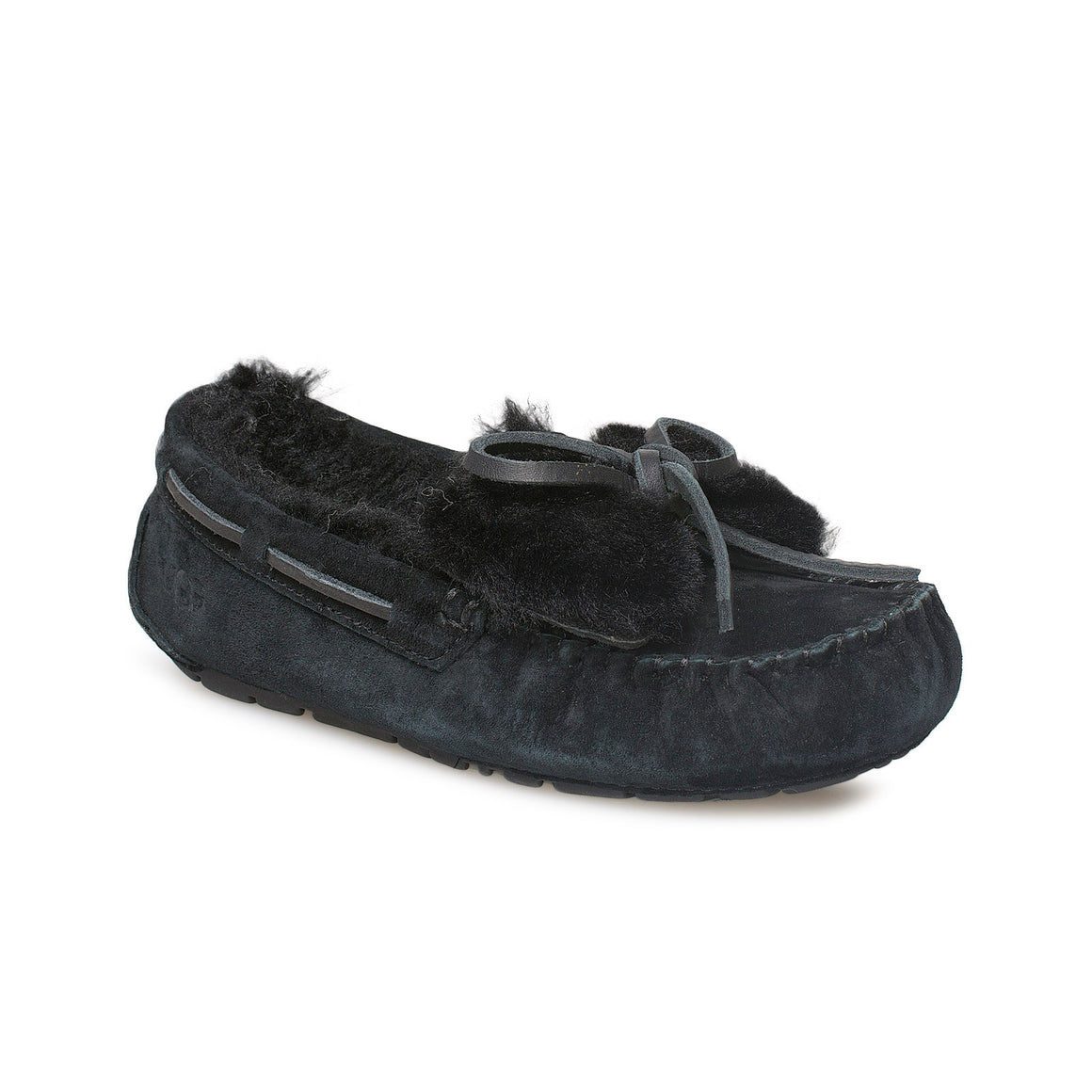UGG Dakota Double Bow Black Slippers - Women's