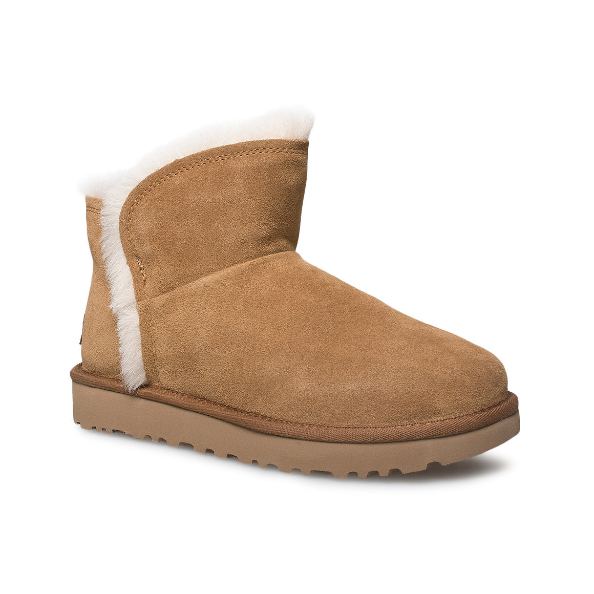 UGG Classic Mini Fluff High Low Chestnut Boots - Women's