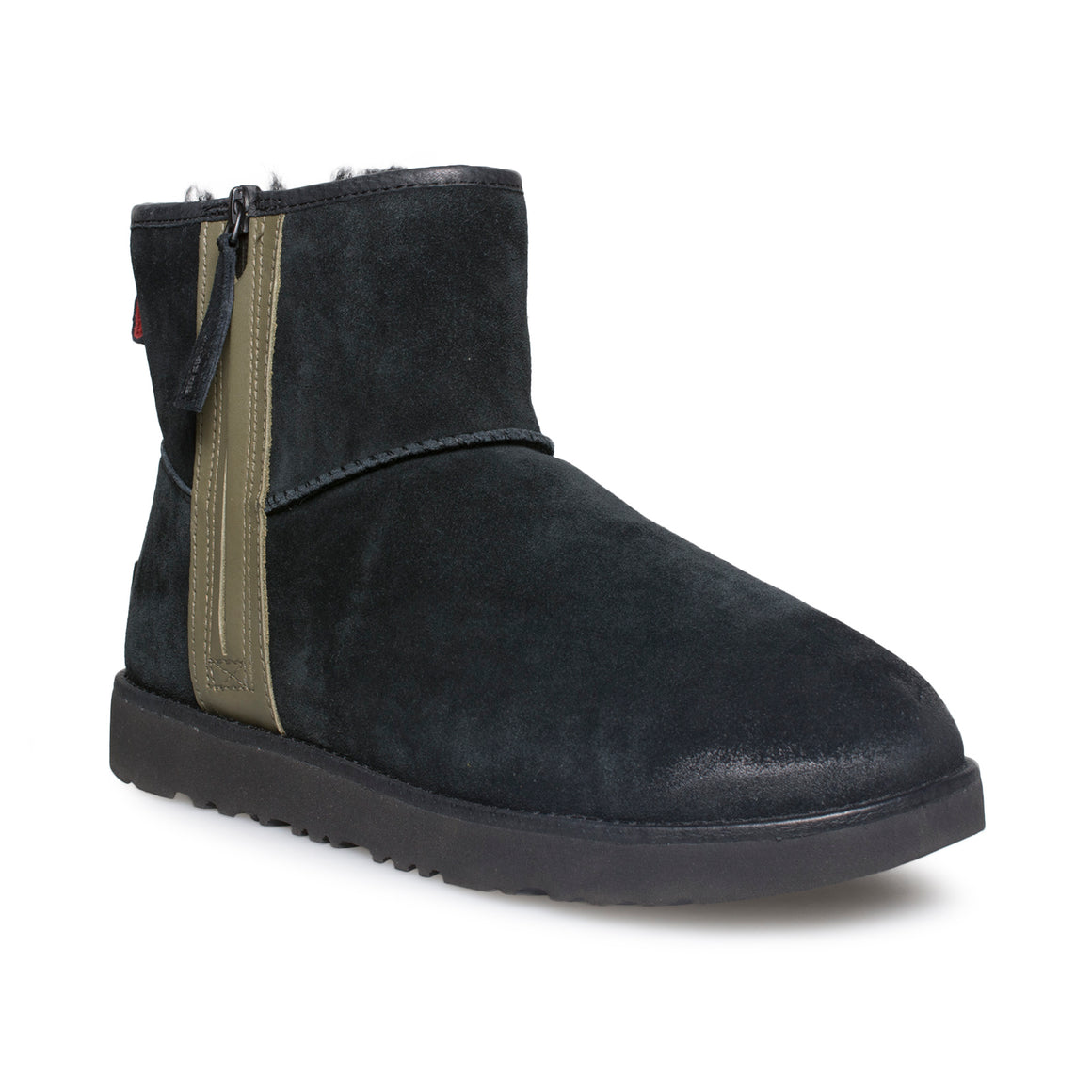 UGG Classic Mini Zip Waterproof Black Boots