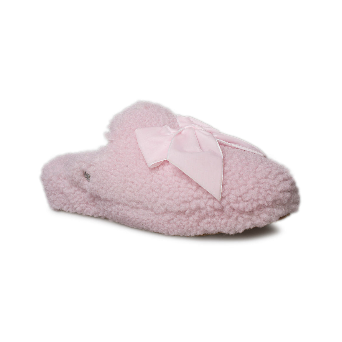 UGG Addison Velvet Bow Seashell Pink Slippers - Women's