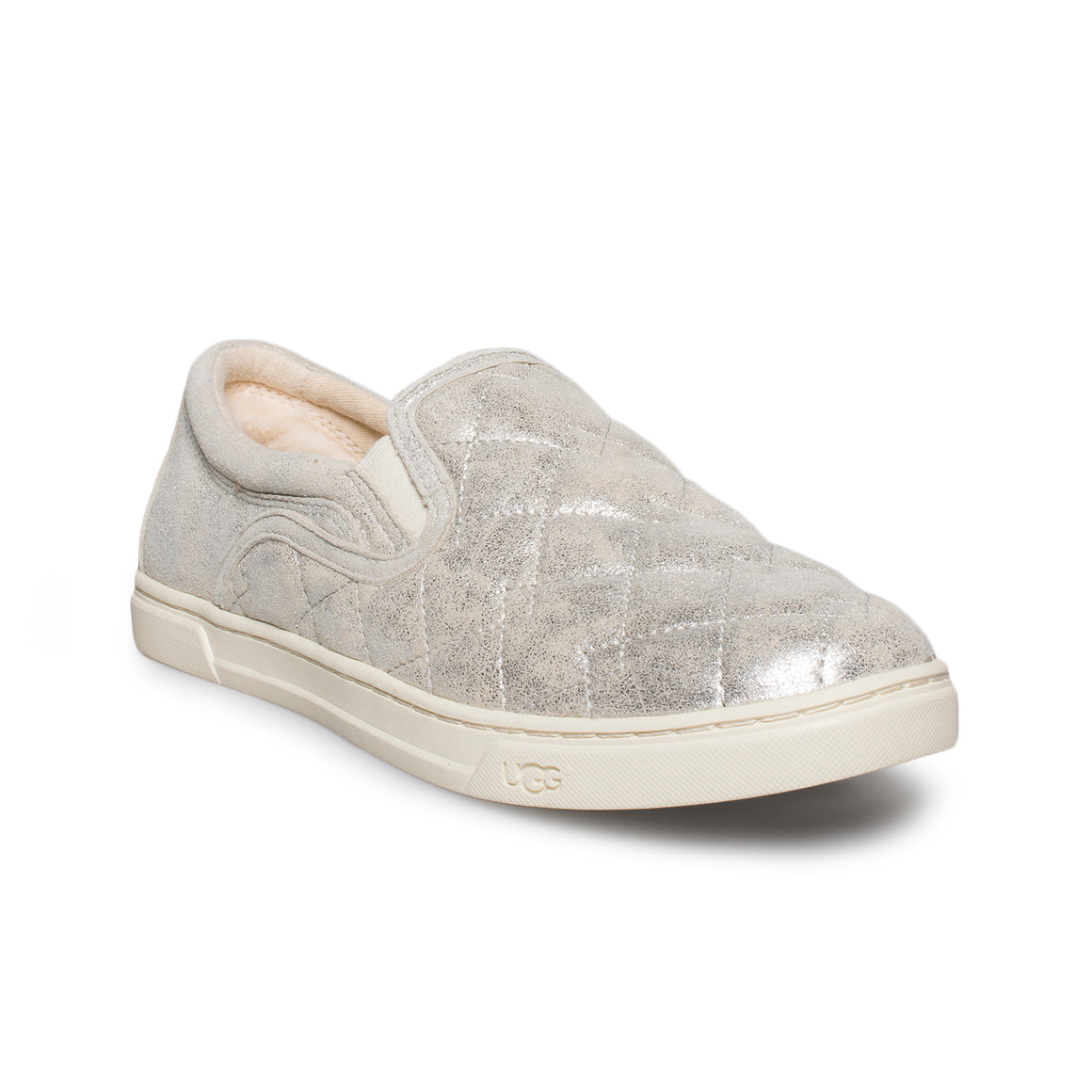 UGG Fierce Deco Quilt Stardust Silver Shoes