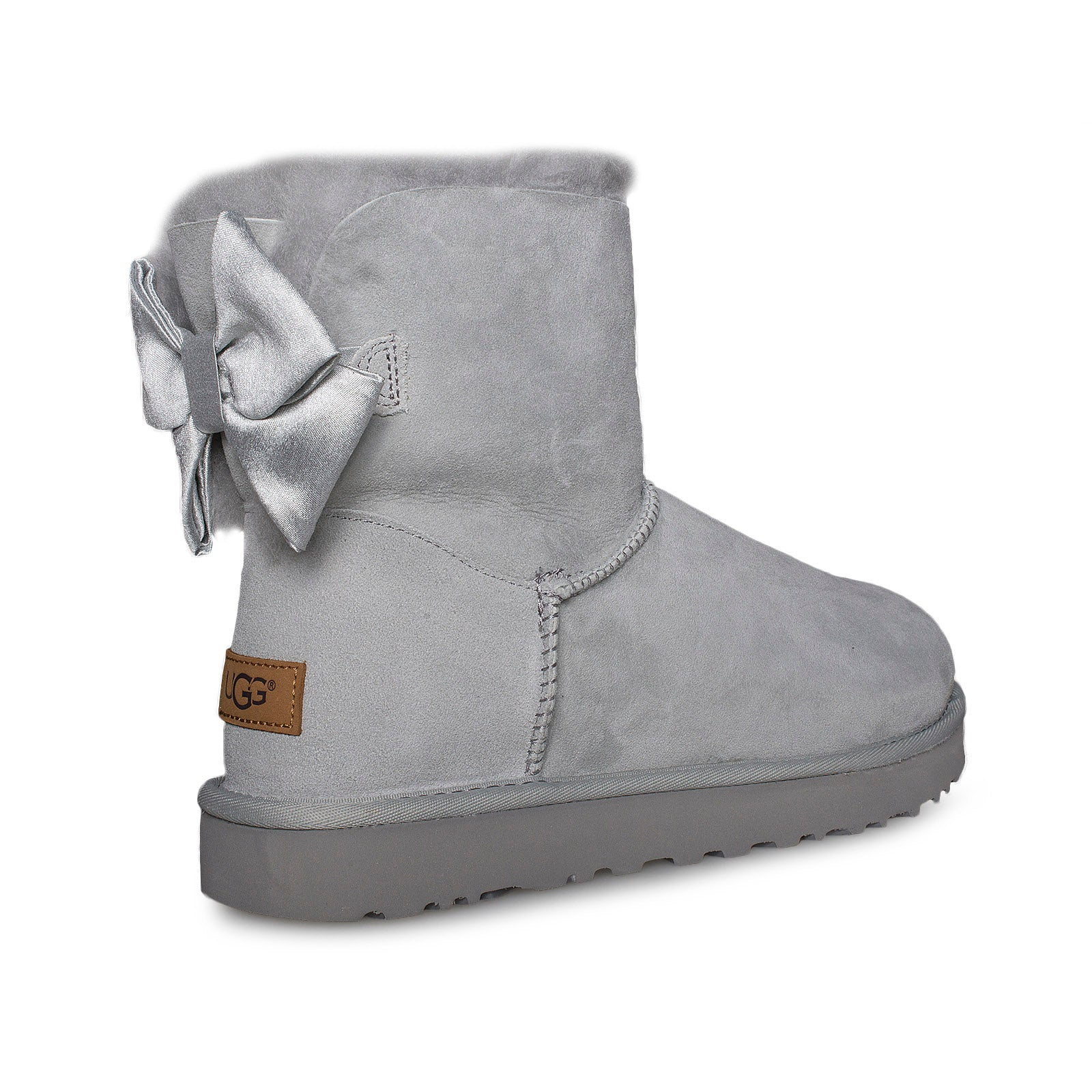UGG Mini Bailey Bow II Glam Grey Violet Boots Women's