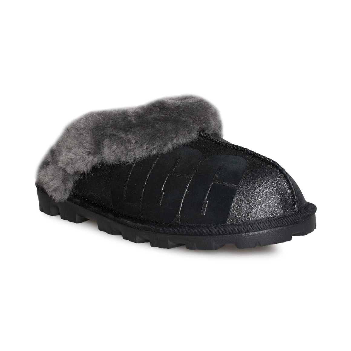 UGG Coquette Sparkle Black Slippers - Women's