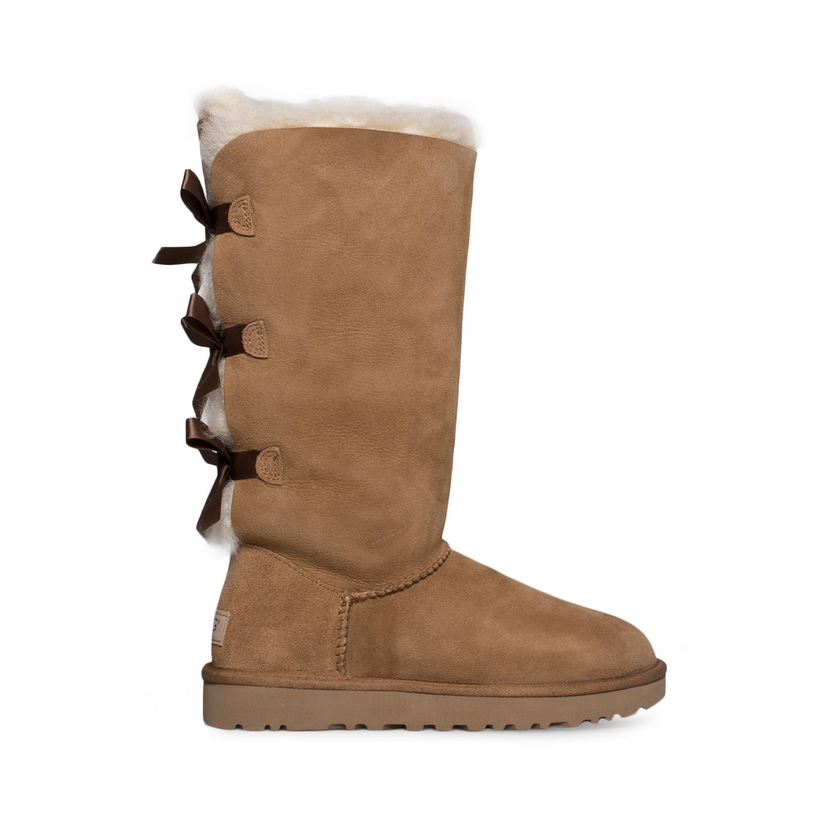 UGG Bailey Bow II Tall Chestnut Boots - Kids