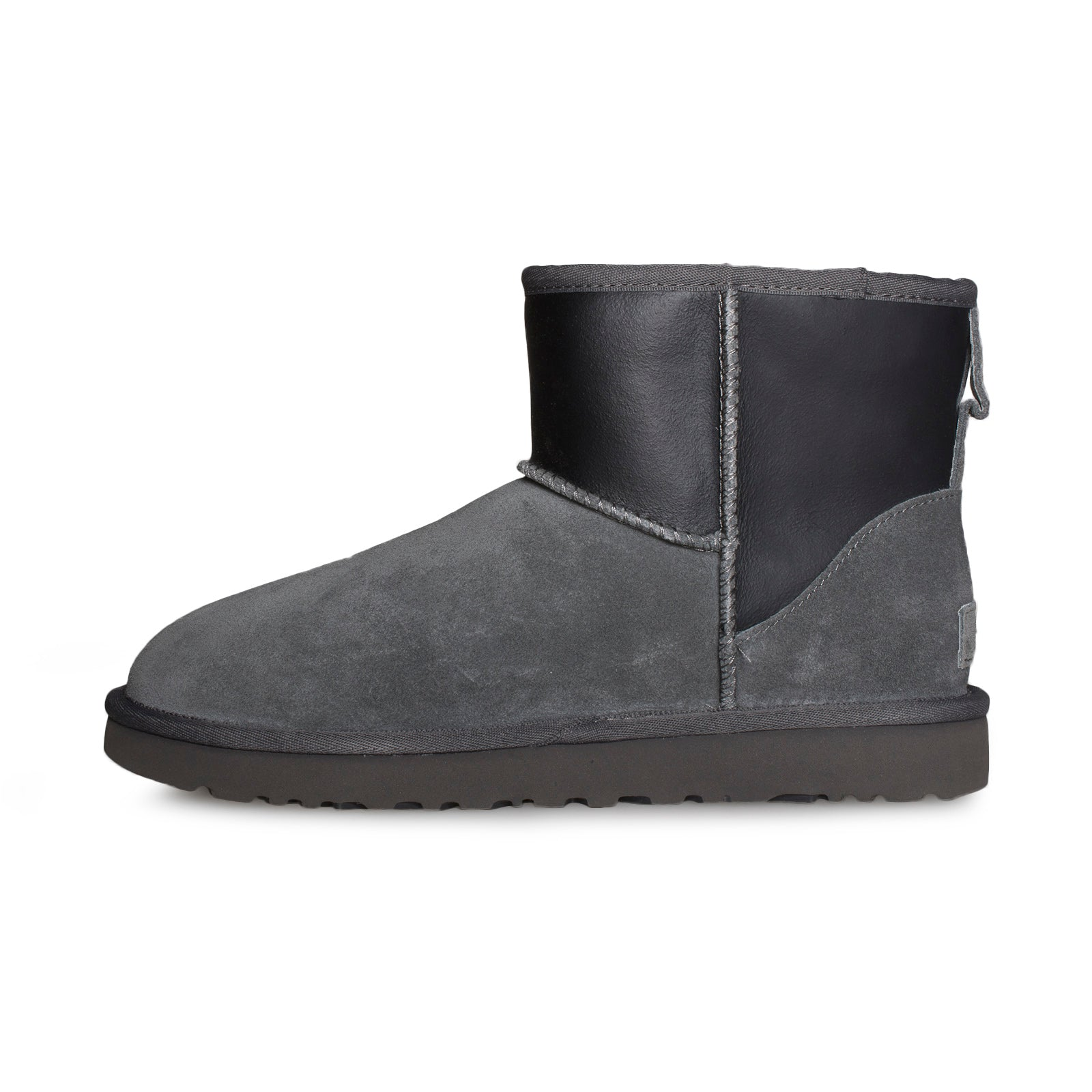 4f03c149122 UGG Classic Mini UGG Rubber Graphic Grey Black Boots - Women's