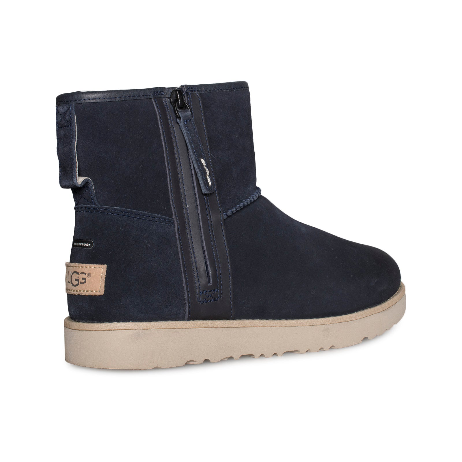 Ugg Classic Mini Zip Waterproof True Navy Boots Mens Mycozyboots