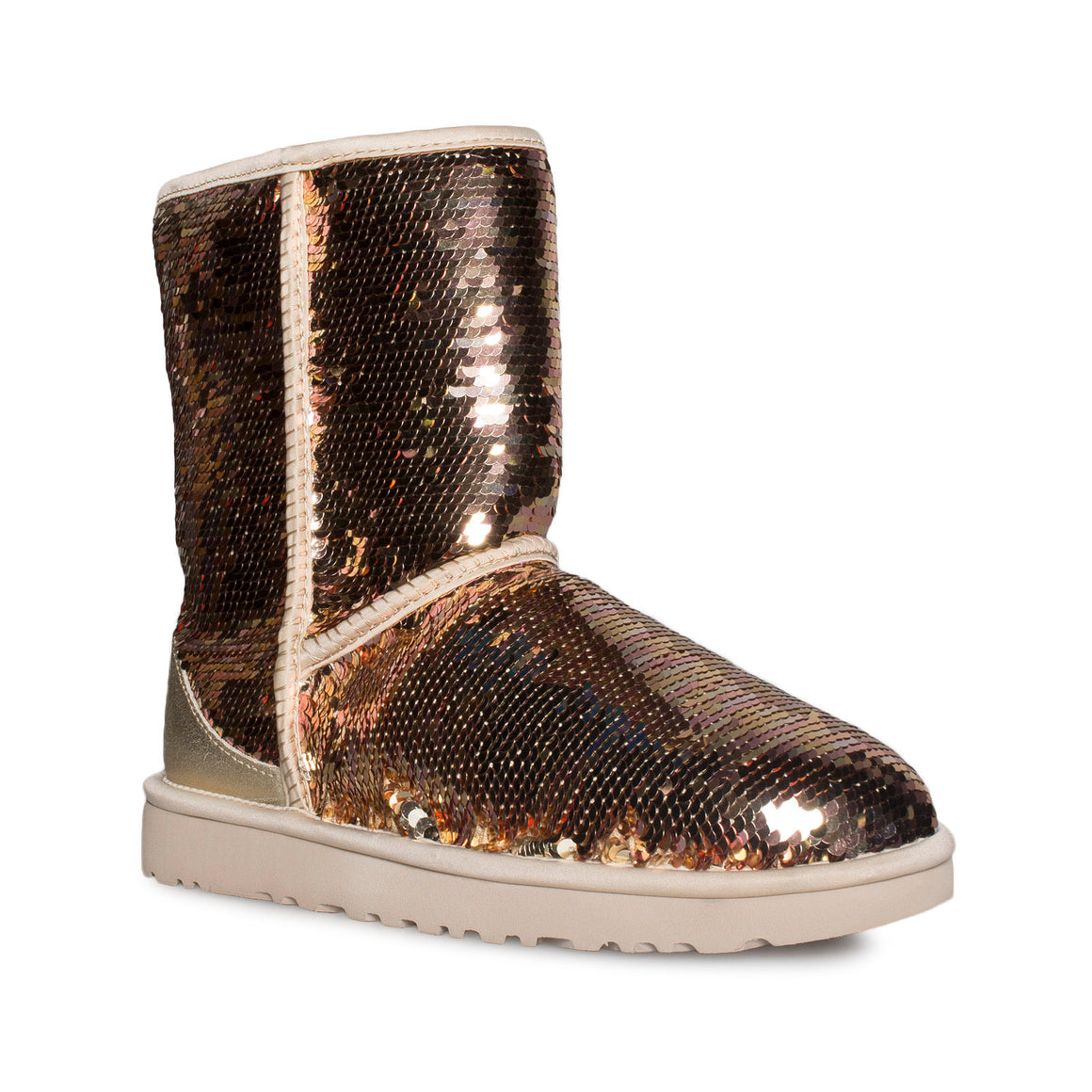 UGG Classic Short Sequin Gold Combo Boots - Women's