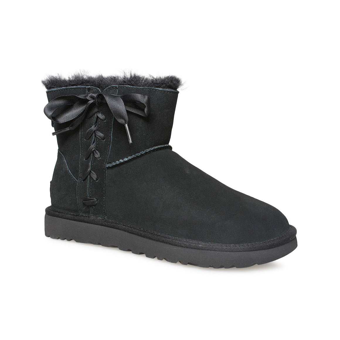 UGG Classic Lace Mini Black Boots - Women's