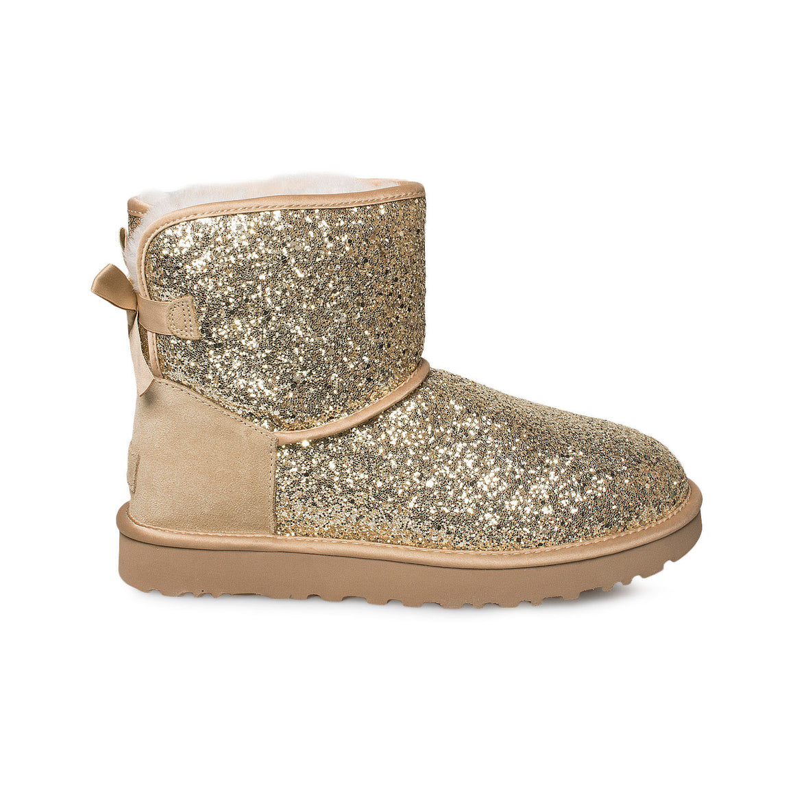 UGG Classic Mini Bow Cosmos Gold Boots - Women's