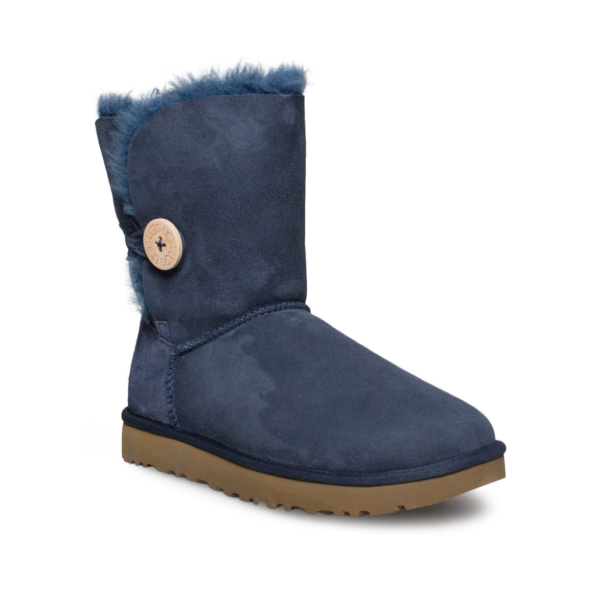 UGG Bailey Button II Navy Boots - Youth