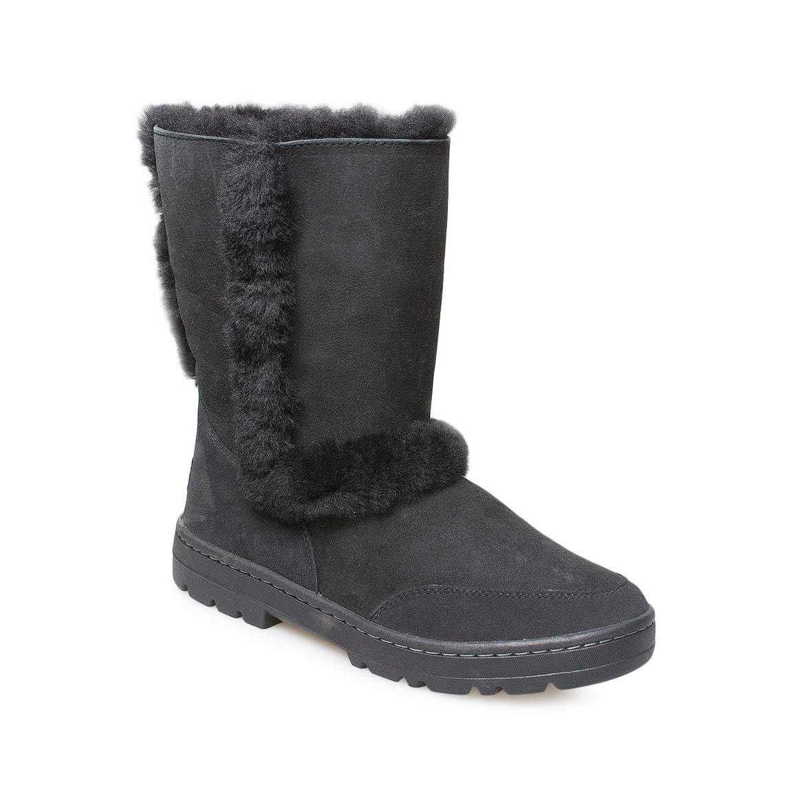 UGG Sundance Short II Revival Black Boots - Women's