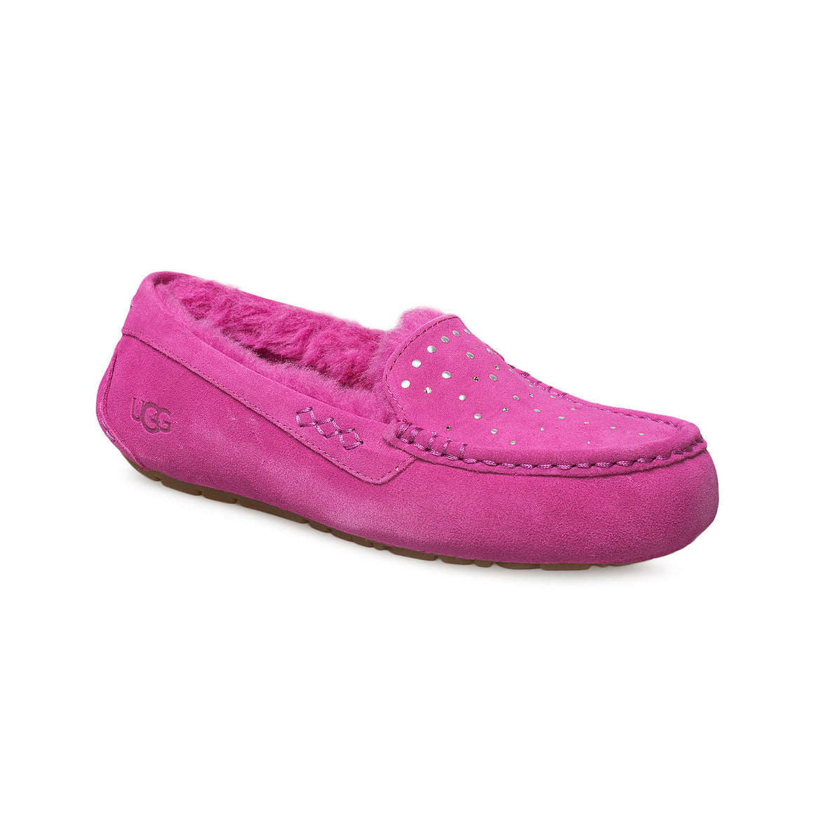 UGG Ansley Studded Fuchsia Slippers - Women's