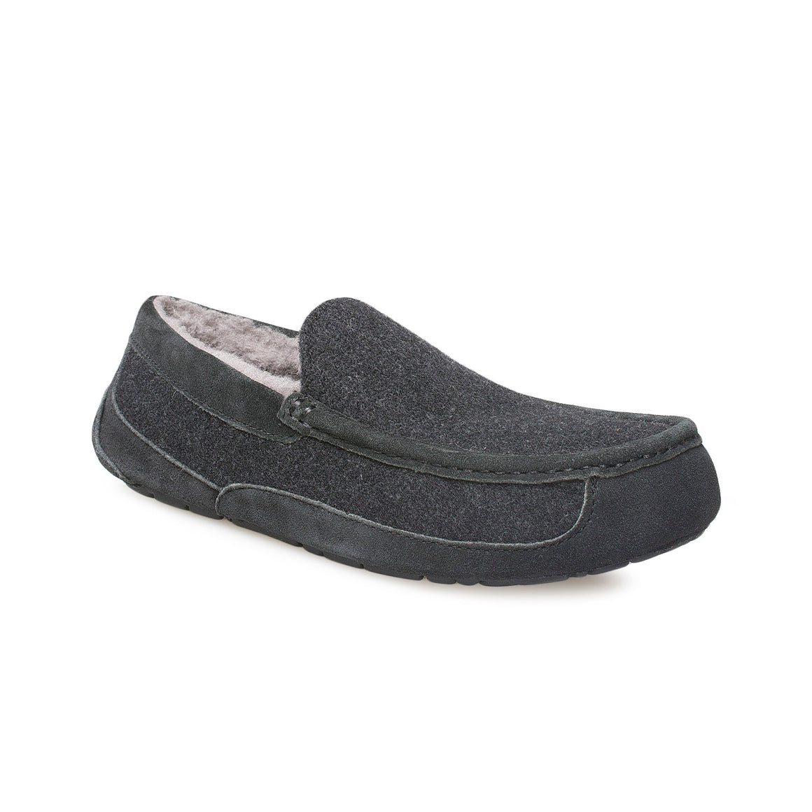 UGG Ascot Wool Black TNL Slippers -  Men's