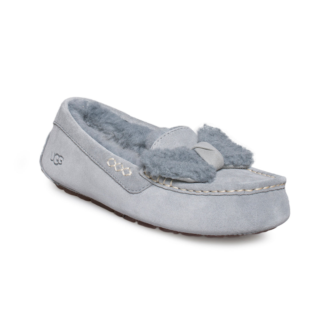 UGG Ansley Fur Bow Geyser Slippers