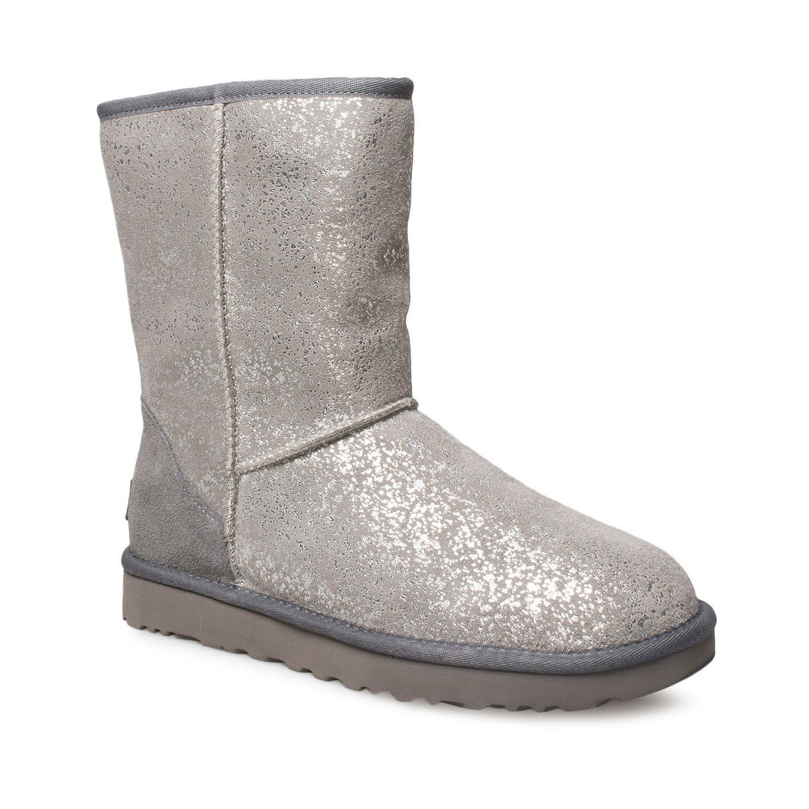 UGG Classic Short Foil Glam Grey Boots - Women's