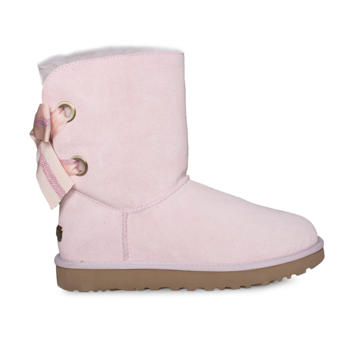 UGG Customizable Bailey Bow Short Seashell Pink Boots - Women's