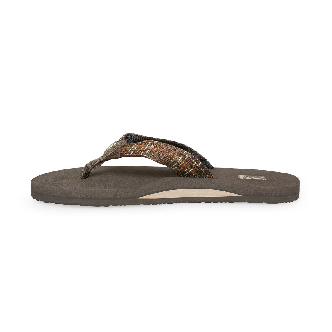 Teva Mush II Tartan Brown Flip Flops - Men's