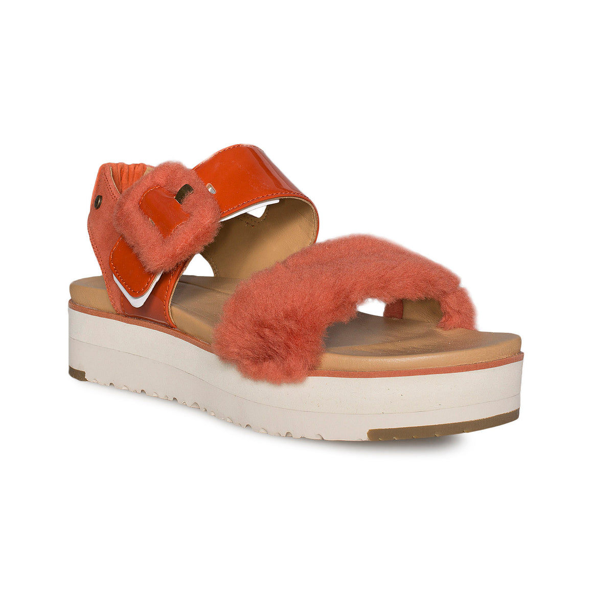 UGG Le Fluff Red Rock Sandals - Women's
