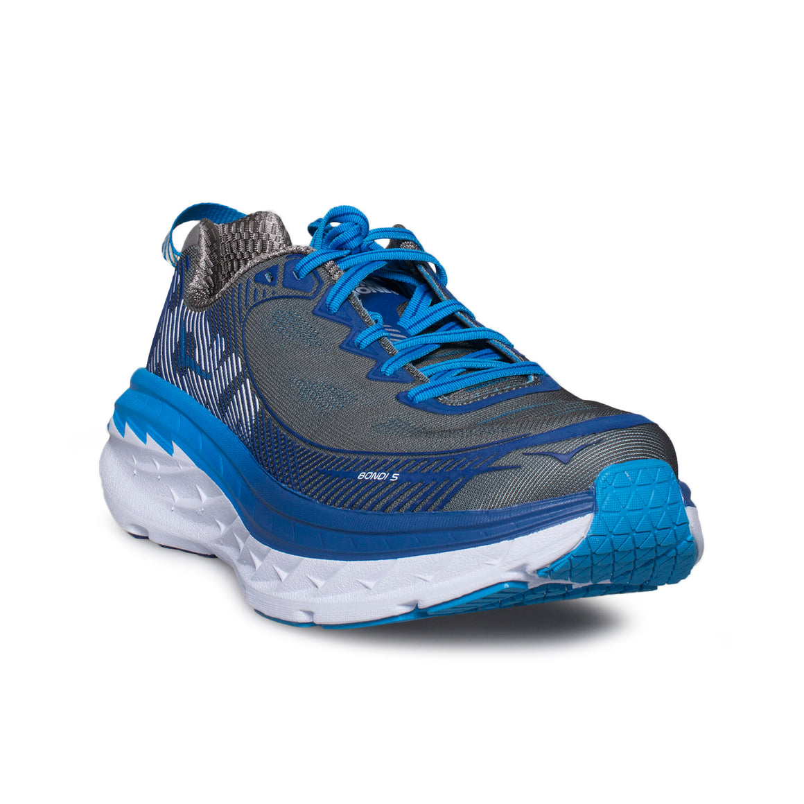 Hoka One One Bondi 5 Charcoal Grey / True Blue Running Shoes  - Men's