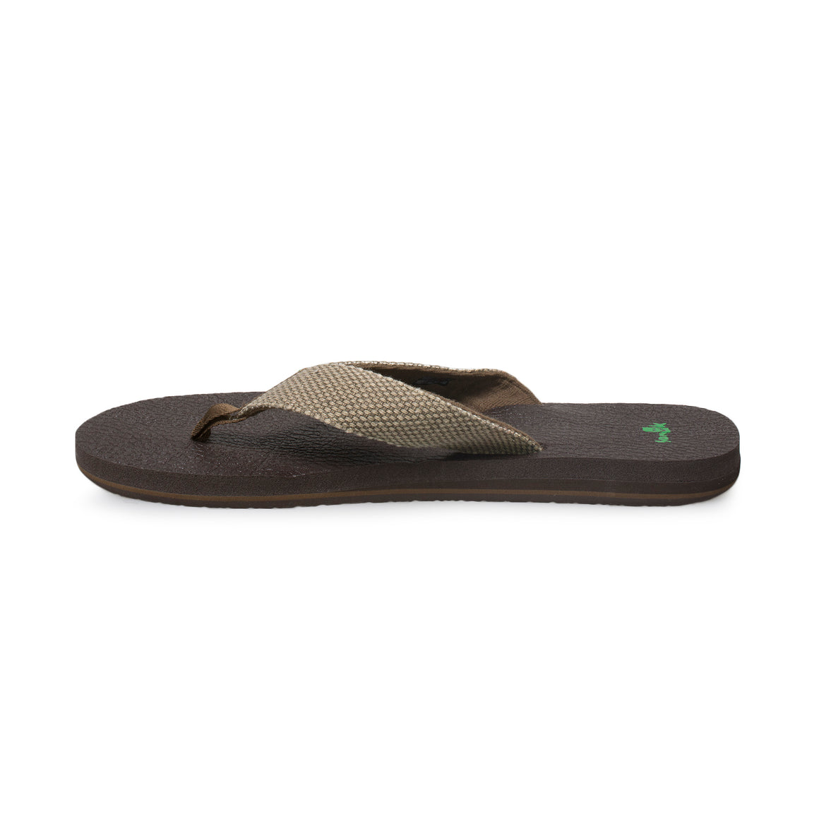 Sanuk Yogi 4 Brown Weave Flip Flops - Men's