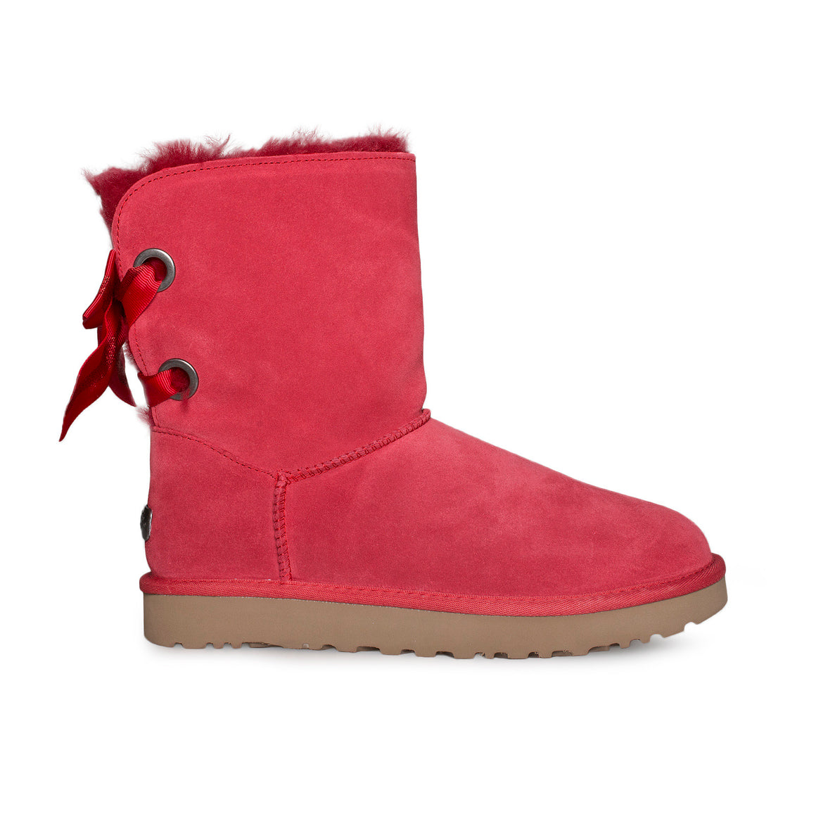 UGG Customizable Bailey Bow Short Ribbon Red Boots - Women's