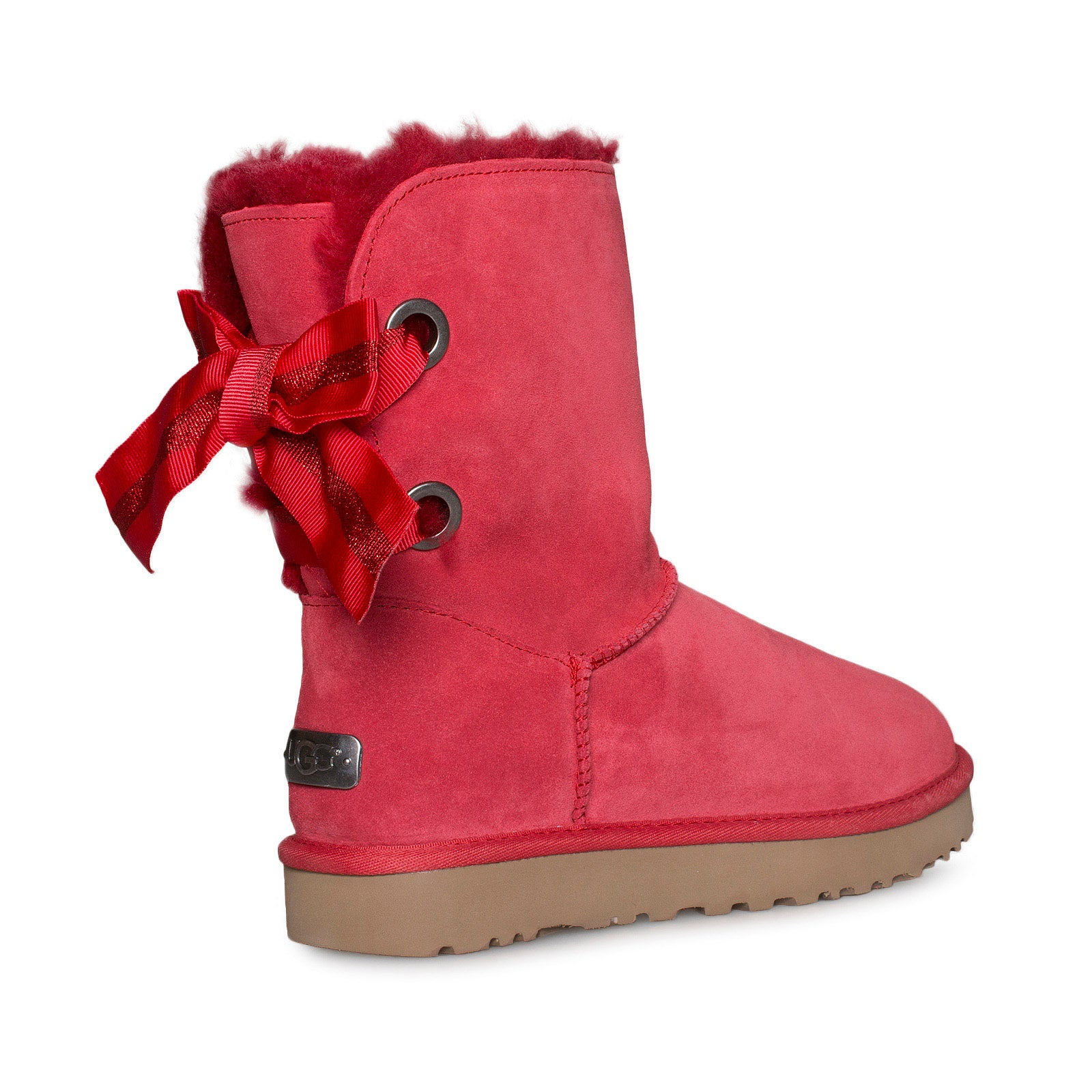 e743e06da4e UGG Customizable Bailey Bow Short Ribbon Red Boots - Women's