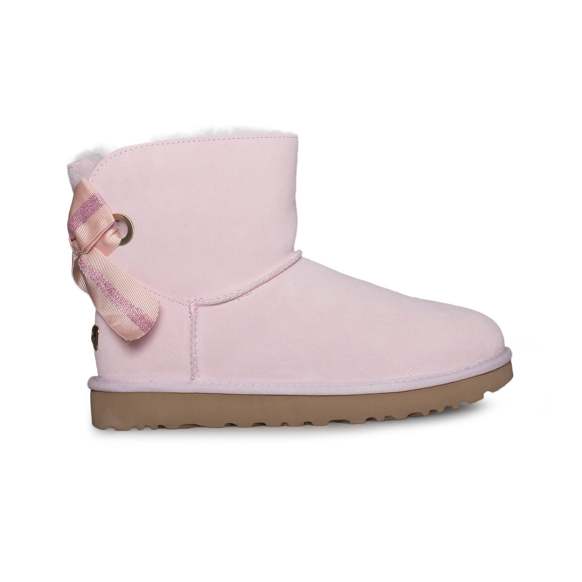 UGG Customizable Bailey Bow Mini Seashell Pink Boots - Women's