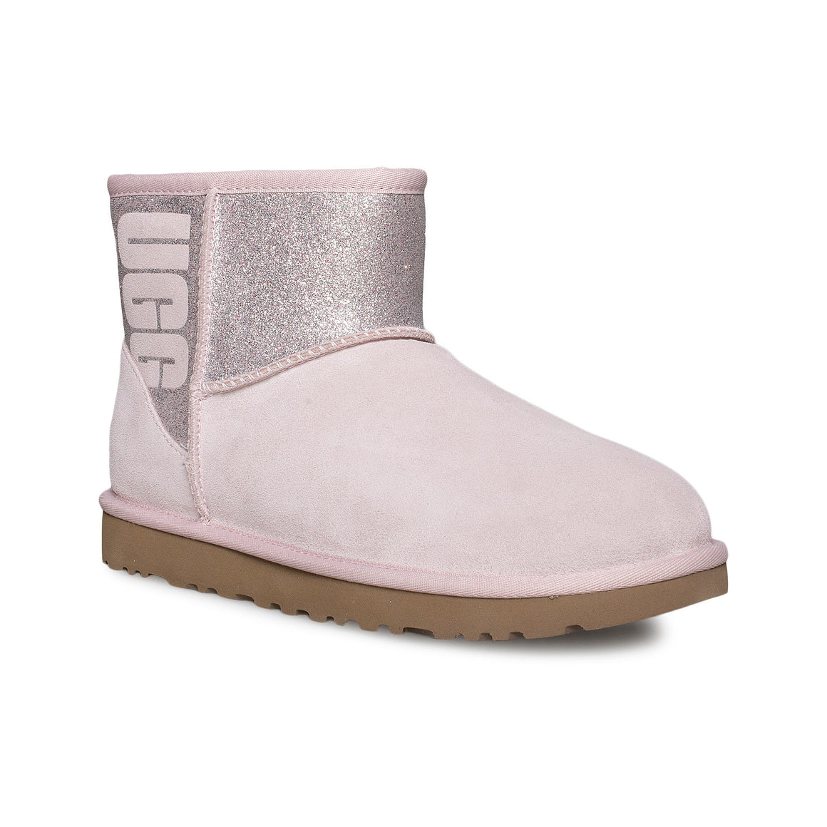UGG Classic Mini UGG Sparkle Seashell Pink Boots - Women's