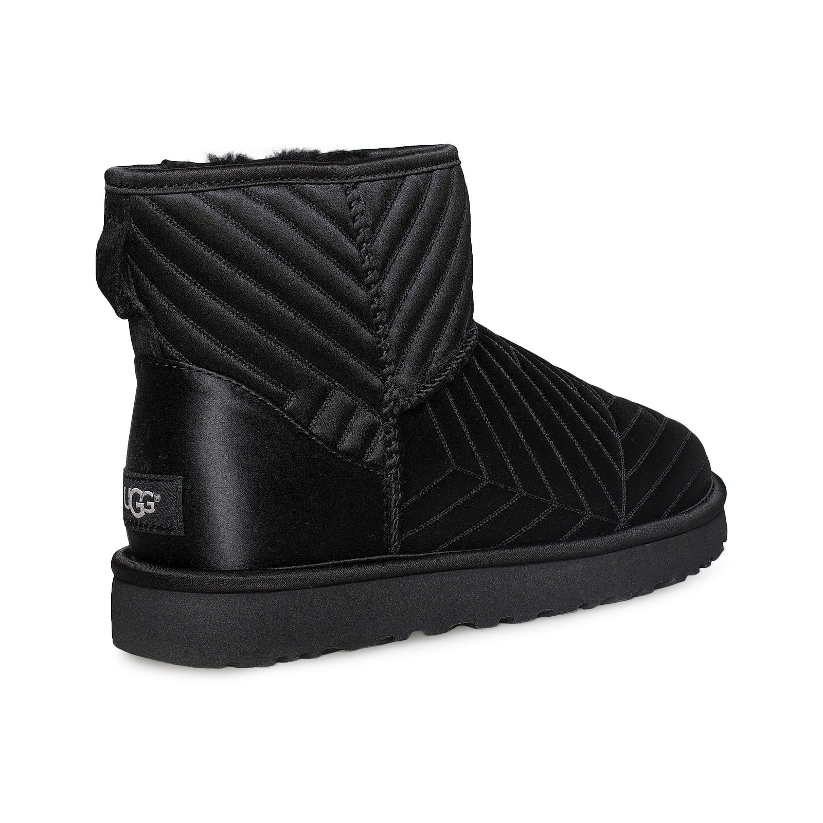 Ugg Classic Mini Quilted Satin Black Boots Womens Mycozyboots