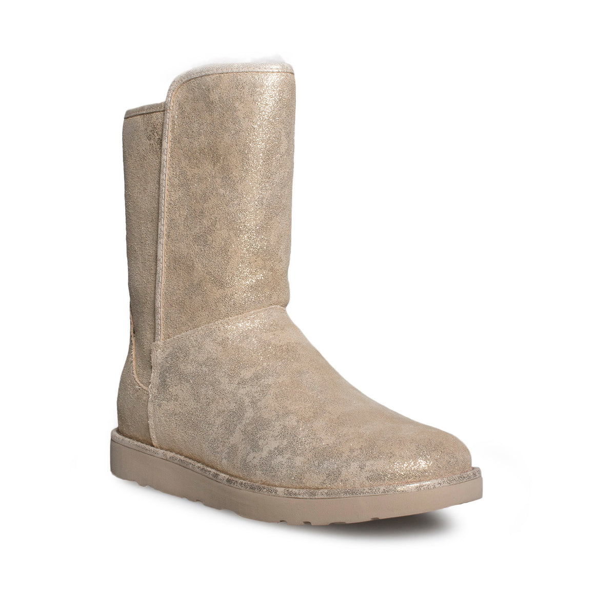 UGG Abree Short II Stardust Metallic Gold Boots - Women's