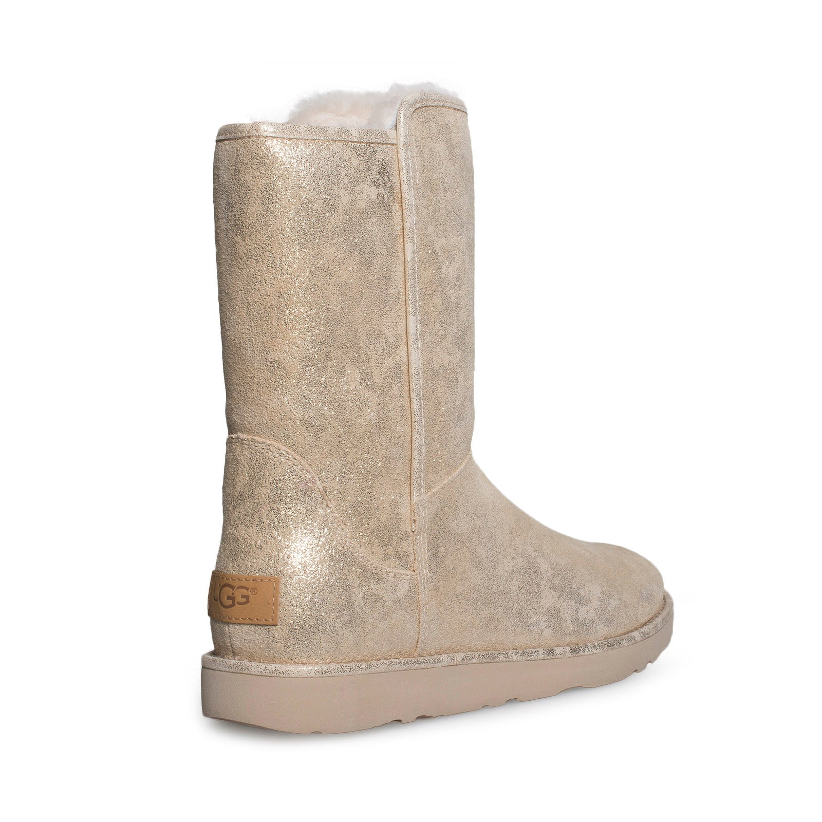 a9b4f83c7f4 UGG Abree Short II Stardust Metallic Gold Boots - Women's