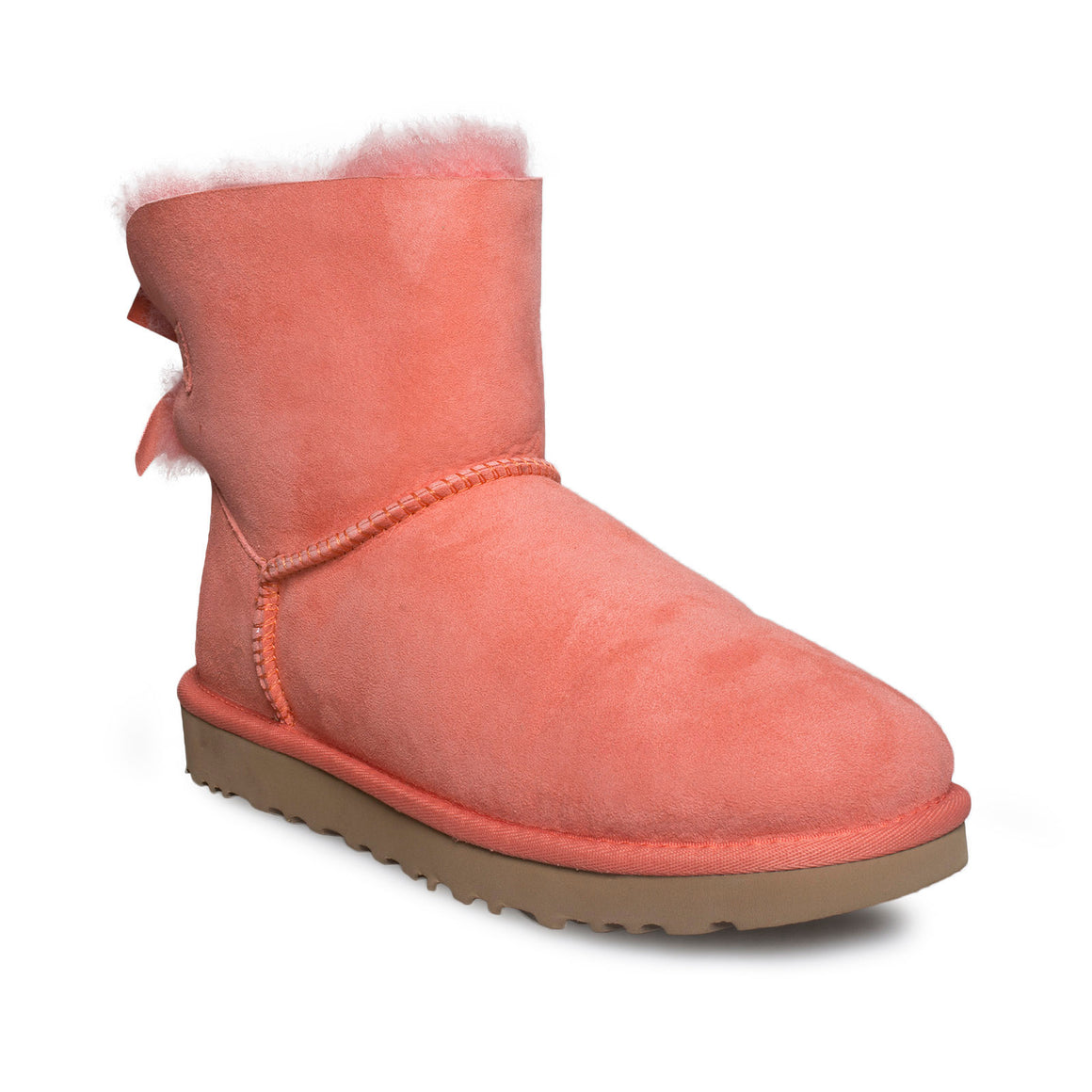 UGG Mini Bailey BOW II Vibrant Coral Boots - Women's