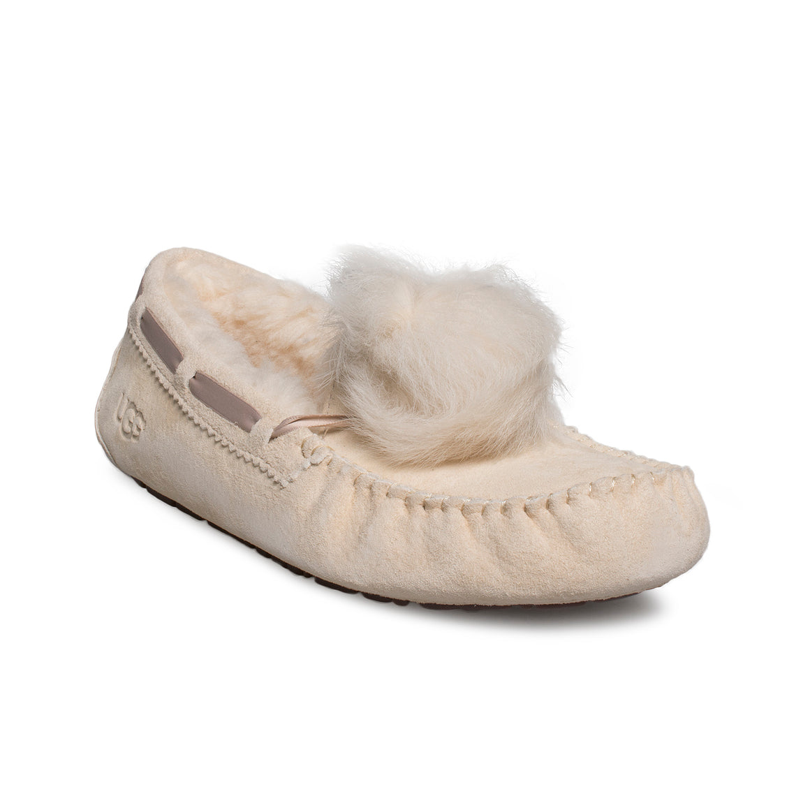 UGG Dakota Pom Pom Cream Slippers - Women's