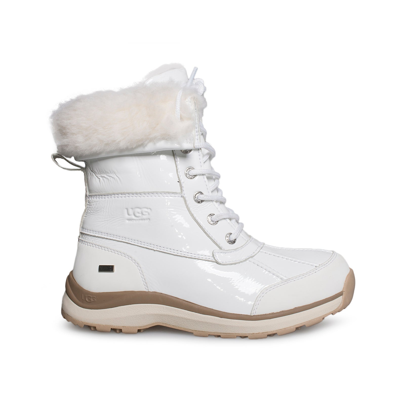 2013a381ced UGG Adirondack III Patent Leather White Boots - Women's