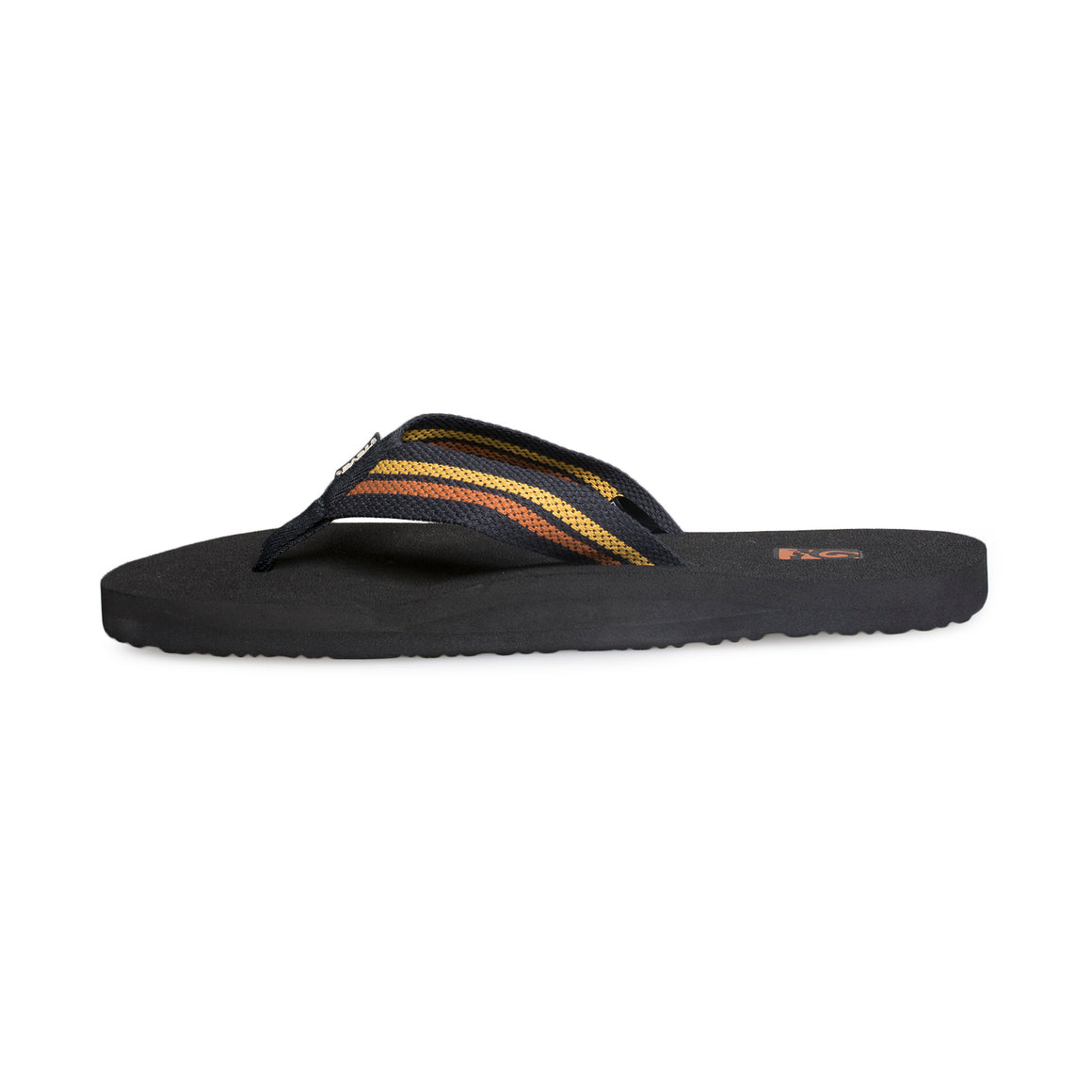 Teva Mush II Tartan Black Yellow Flip Flops - Men's