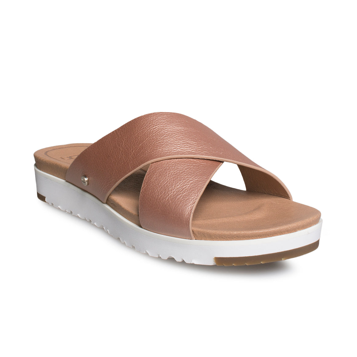 UGG Kari Metallic Rose Gold Sandals - Women's