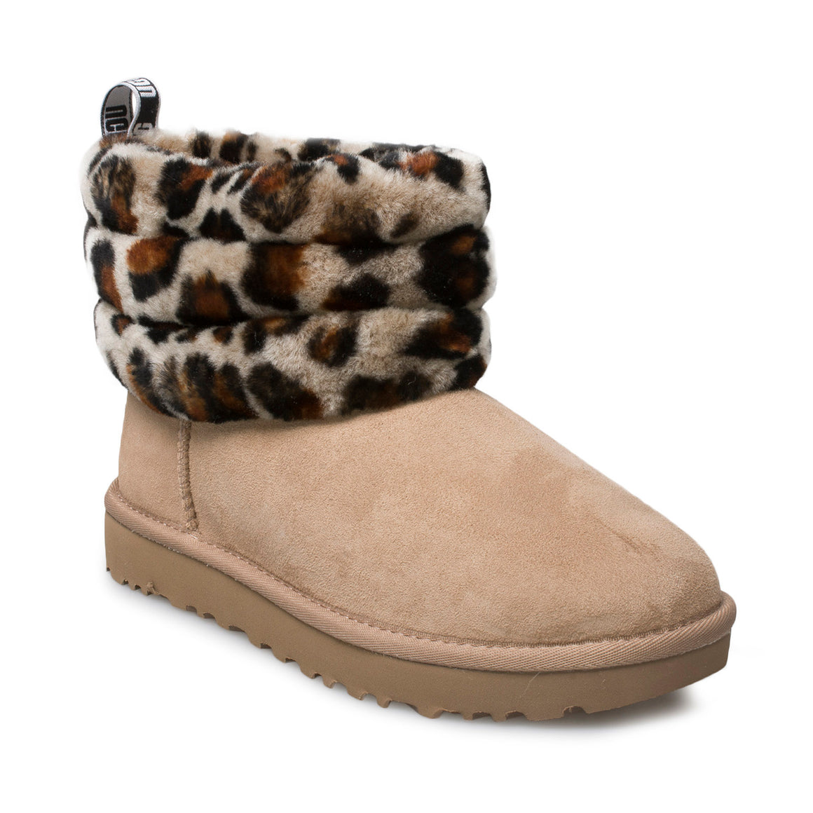 UGG Fluff Mini Quilted Leopard Amphora Boots - Women's