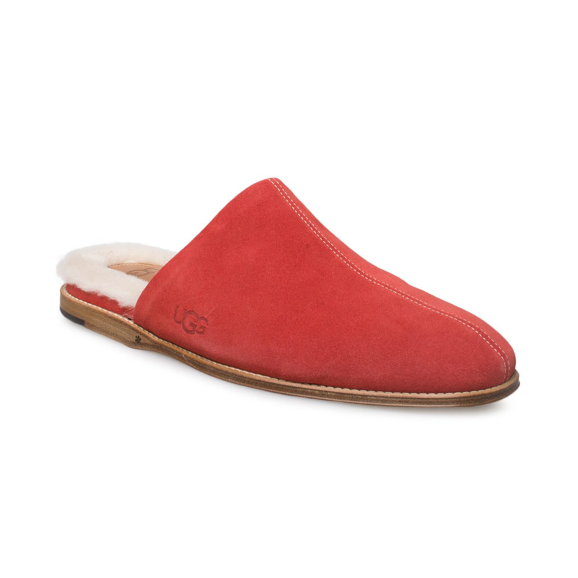 UGG Chateau Slip On Samba Red Slippers - Women's