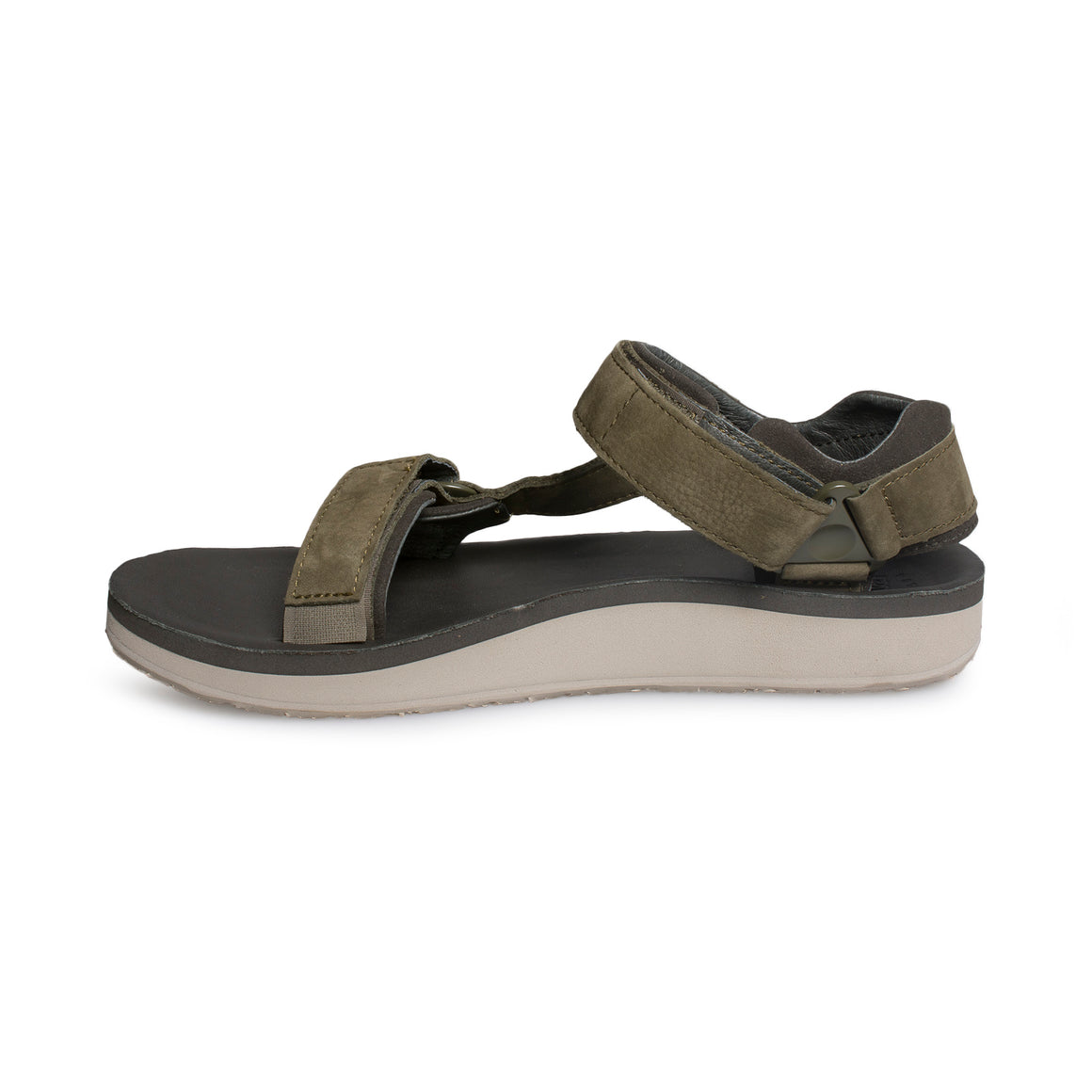 TEVA Original Universal Premier Leather Olive Sandals - Men's