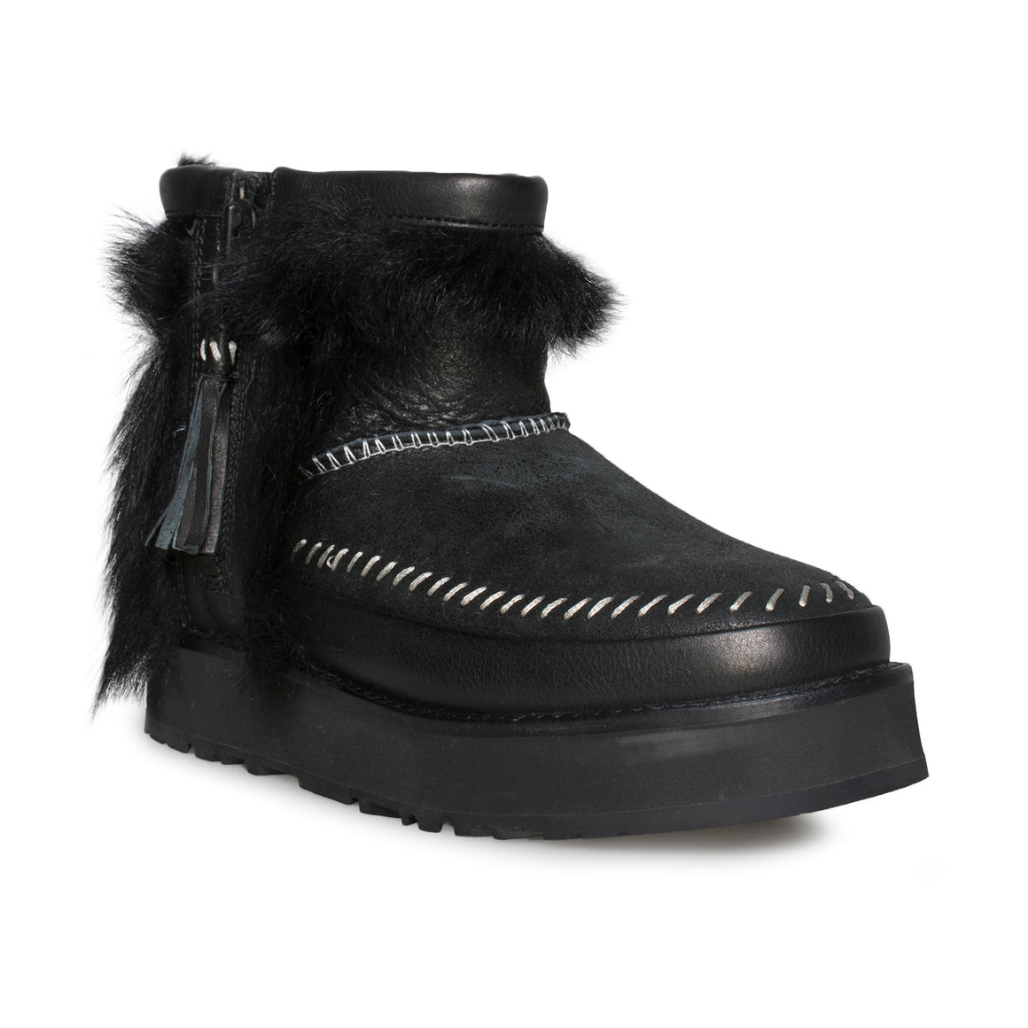UGG Fluff Punk Boot Black - Women's