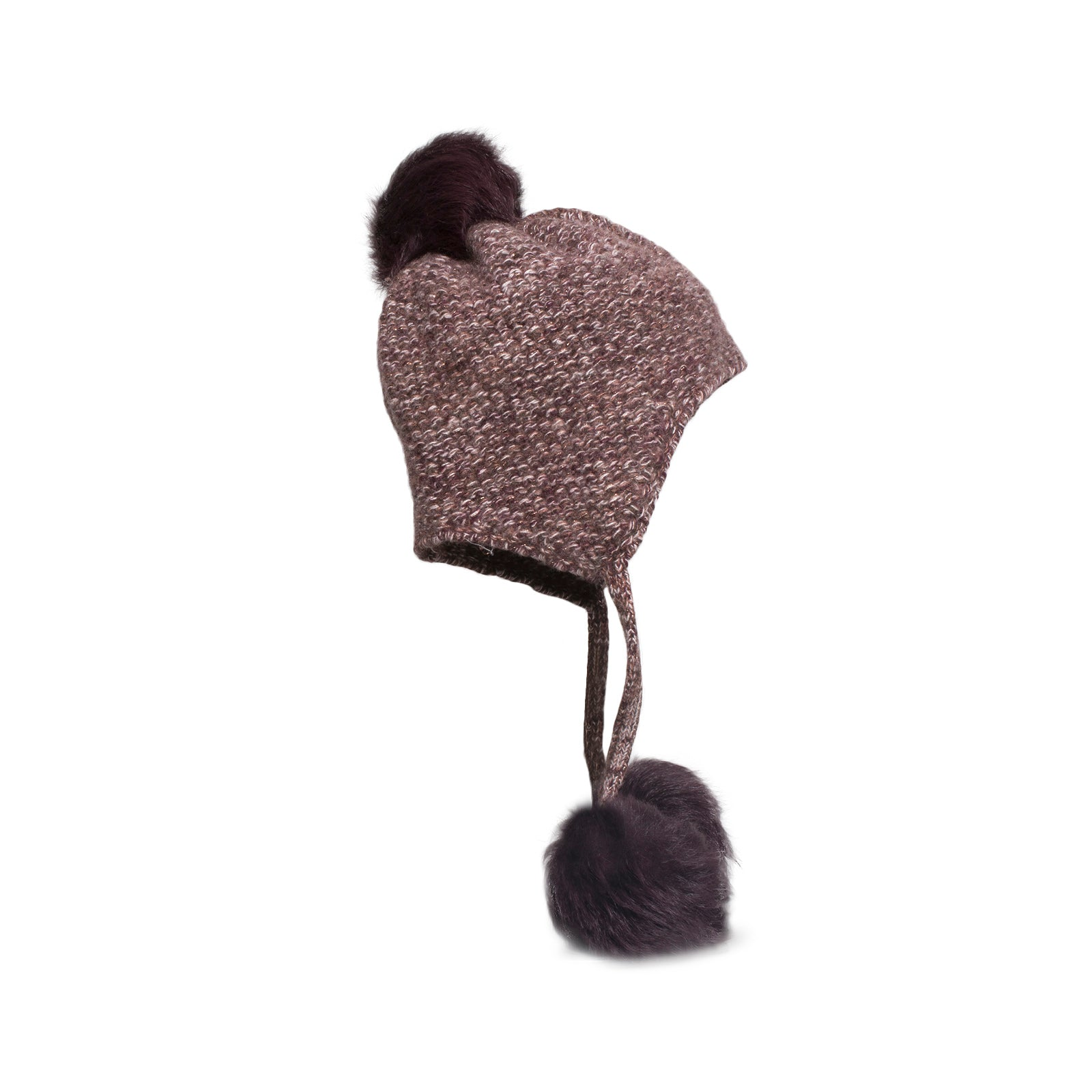 868d26f9c5c UGG Tri Pom Cashmere Port Heather Hat - Women s - MyCozyBoots